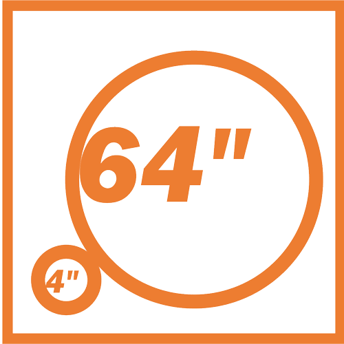 diámetros 4'' a 64''