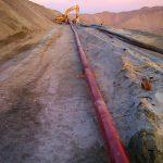 instalacion de linea experimental en Quebrada Honda, Perú